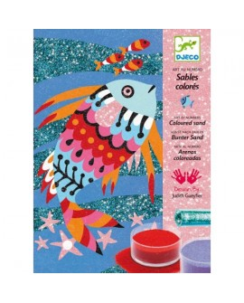 sables colorés : arc en ciel poissons