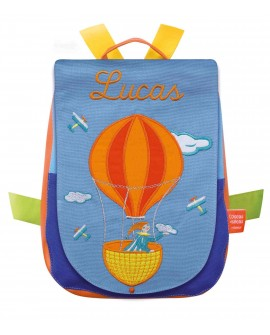 sac à dos à broder montgolfiere