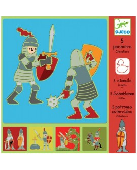 pochoir chevaliers