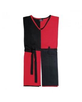 Tunique noir-rouge