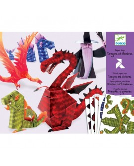 Paper toys : Dragons et chimères - DJECO