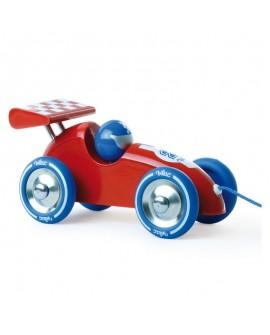 voiture courses bleu-rouge