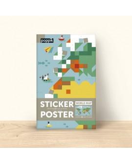 Sticker carte du monde - POPPIK
