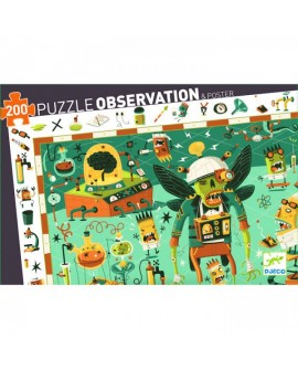 Puzzle d'observation - crazy lab 200 pieces- DJECO