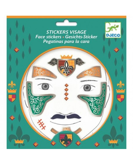 stickers visages - chevalier - DJECO