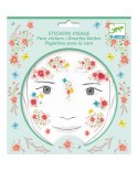 stickers visages - fée du printemps - DJECO