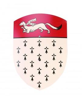 Bouclier hermine rouge/blanc 36*50 cm