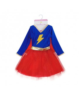ensemble super heroine 5/6 ans