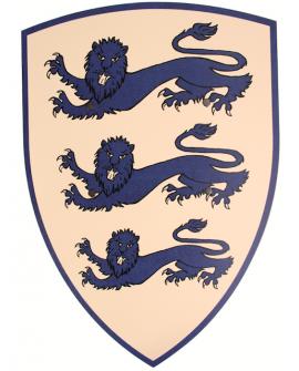 Bouclier  3 lions bleus 36*50 cm