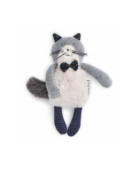 miniature chat gris clair Fernand- les moustaches