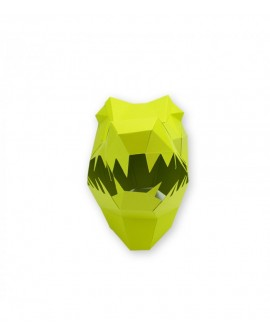 masque papier 3D crocodile