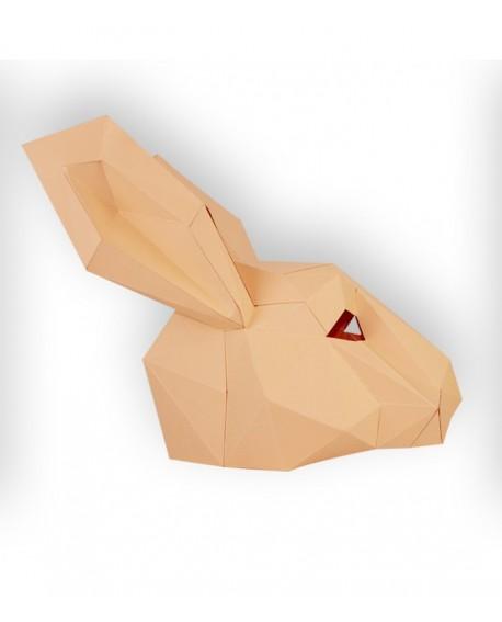 masque papier 3D lapin