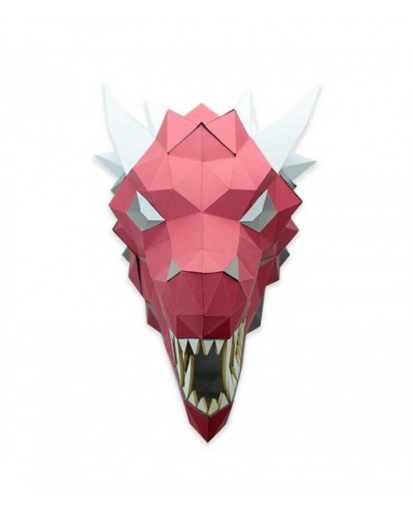 dragon papier 3D rouge