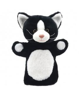 marionnette chat blanc et noir