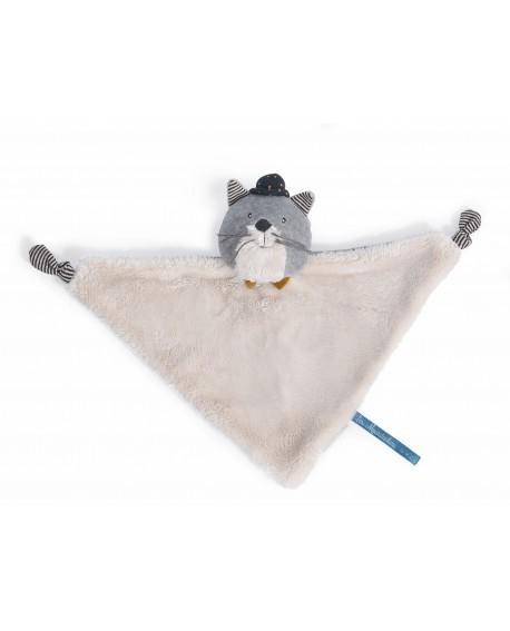 doudou chat gris clair Fernand- les moustaches