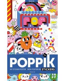 Sticker street art- POPPIK