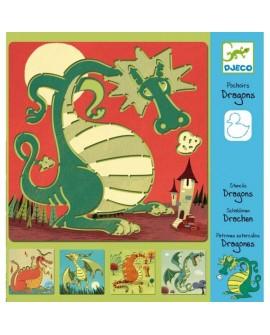 pochoir dragons