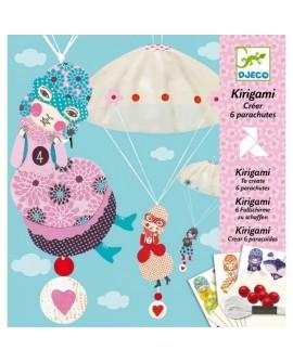 Kirigami : créer des parachutes pastels