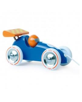voiture courses bleu-orange