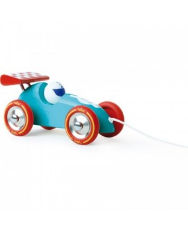 voiture courses turquoise-rouge