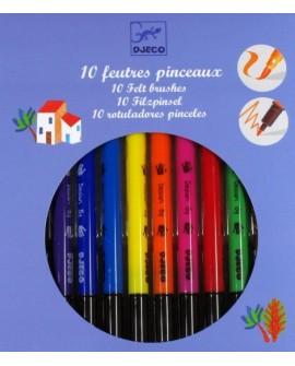 10 feutres pinceaux - classique