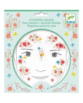 stickers visages - fée du printemps - DJECO