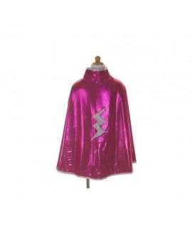 cape reversible super heros rose-argent