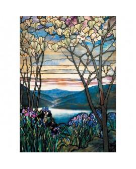 puzzleTiffany magnolia et iris