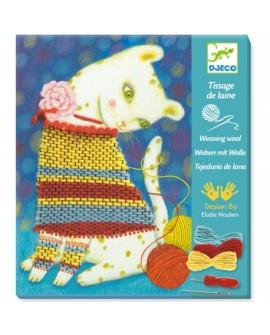tissage de laine : pull et pelotes