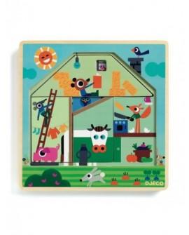 Puzzle 3 niveaux - Chez Gaby