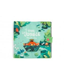 Grand livre tissu d'activités Dans la jungle Moulin Roty