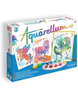 Aquarellum licornes et pegases