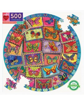 puzzle vintage butterflies