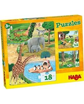 3 premiers puzzles animaux
