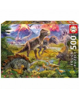 puzzle 500P dinosaures