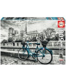 puzzle 500p bicyclette à Notre Dame