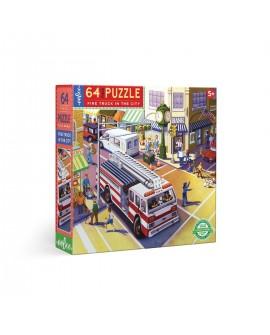 puzzle POMPIERS EN VILLE 64 PCES