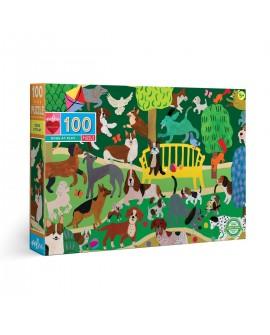 puzzle CHIENS JOUANT 100 PCES