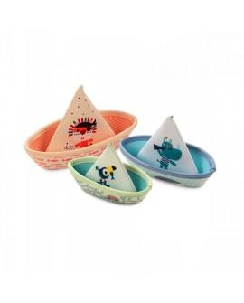 3 bateaux flottants jungle
