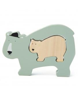 Wooden baby puzzle - Mr. Polar Bear