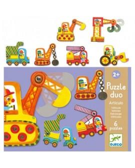 Puzzle duo Articulo véhicule - DJECO
