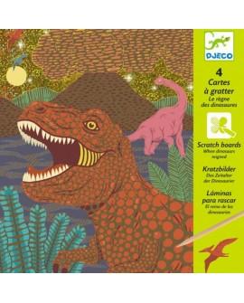 cartes à gratter :regne des dinosaures