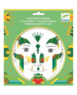 stickers visages - dragon - DJECO