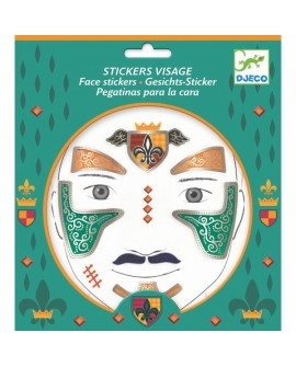 stickers visages - chevalier - DJECO