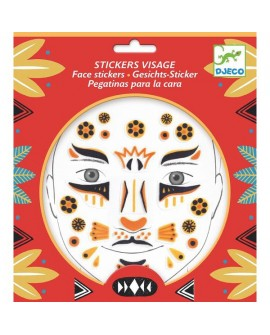 stickers visages - leopard - DJECO