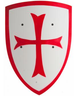 Bouclier croise blanc 28-38cm