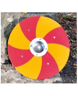 bouclier Viking rouge/jaune