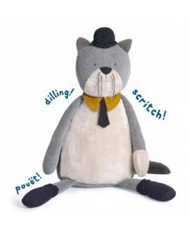 chat  Géant gris clair  Fernand- les moustaches