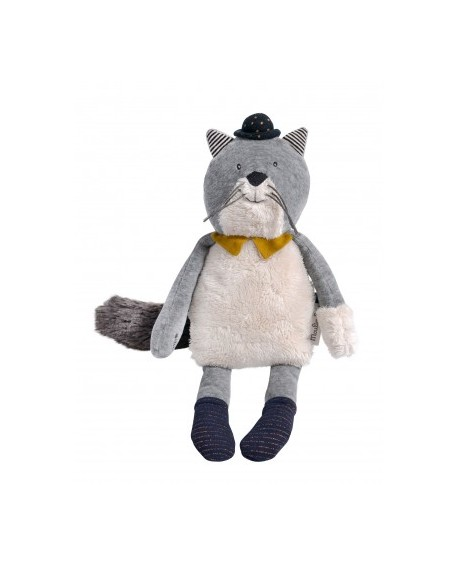 poupée chat gris clair  Fernand- les moustaches