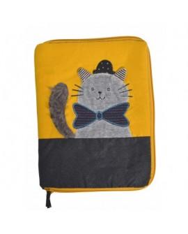 protege carnet santé  chat gris Alphonse- les moustaches